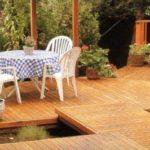 Патио в саду: комфорт и практичность