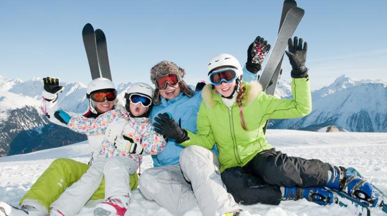 Активный отдых с детьми. Горные лыжи