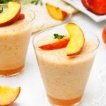 Персиковый коктейль для выведения токсинов